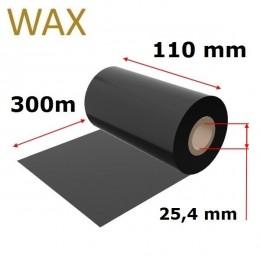 Karboninė juosta (dažanti juosta) 110mm x 300m WAX, OUT