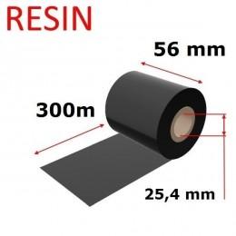 Karboninė juosta (dažanti juosta) 56mm x 300m RESIN, OUT