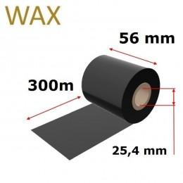 Karboninė juosta (dažanti juosta) 56mm x 300m WAX, OUT