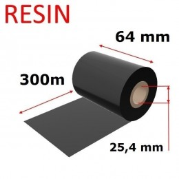 Karboninė juosta (dažanti juosta) 64mm x 300m RESIN, OUT