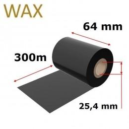 Karboninė juosta (dažanti juosta) 64mm x 300m WAX, OUT