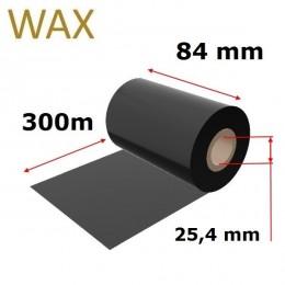 Karboninė juosta (dažanti juosta) 84mm x 300m WAX, OUT