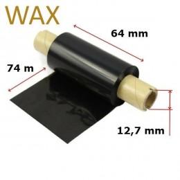 Karboninė juosta (dažanti juosta) 64mm x 74m WAX, OUT
