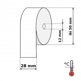 Kasos aparato juosta 28 mm 28 m Termo (skersmuo iki 50 mm)
