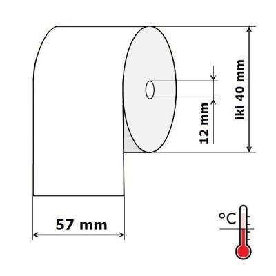 Kasos aparato juosta 57 mm 18 m Termo (skersmuo iki 40 mm)