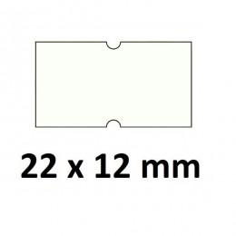 Lipnios etiketės markiratoriams 22 x 12 mm baltos (rulone 1000 vnt.)