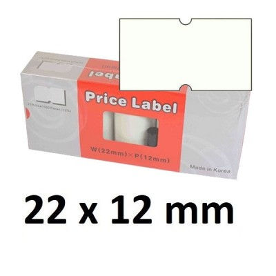 Lipnios etiketės markiratoriams 22 x 12 mm baltos (dėžutėje 25 vnt.)