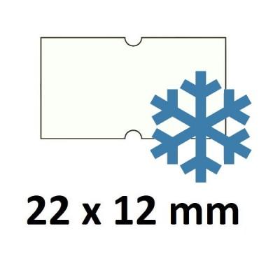 Lipnios etiketės markiratoriams 22 x 12 mm baltos šaldikliams (rulone 1000 vnt.)
