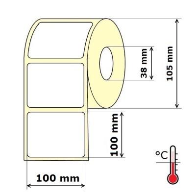 Lipnios etiketės 100 x 100 mm Thermal Eco (rulone 500 vnt.)