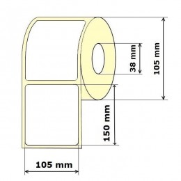 Lipnios etiketės 105 x 150 mm Vellum (rulone 350 vnt.)