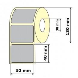 Lipnios etiketės 52 x 40 mm Polipropilenas (rulone 1000 vnt.)