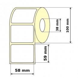 Lipnios etiketės 58 x 59 mm Vellum (rulone 800 vnt.)