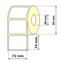 Lipnios etiketės 72 x 74 mm Vellum (rulone 500 vnt.)